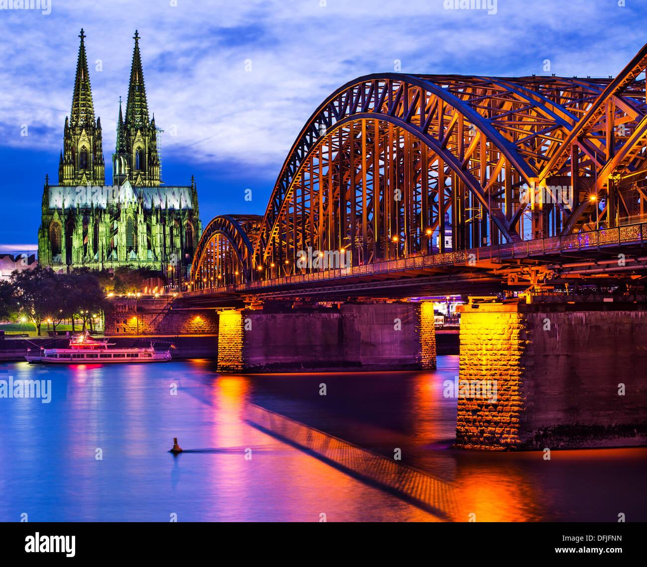 Kölner Dom in Köln. Stockbild