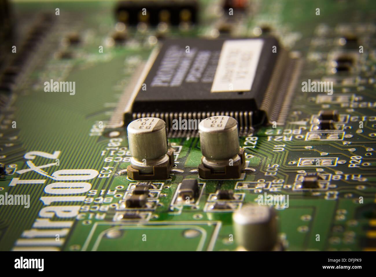 Makroaufnahme einer Computer-platine Stockbild