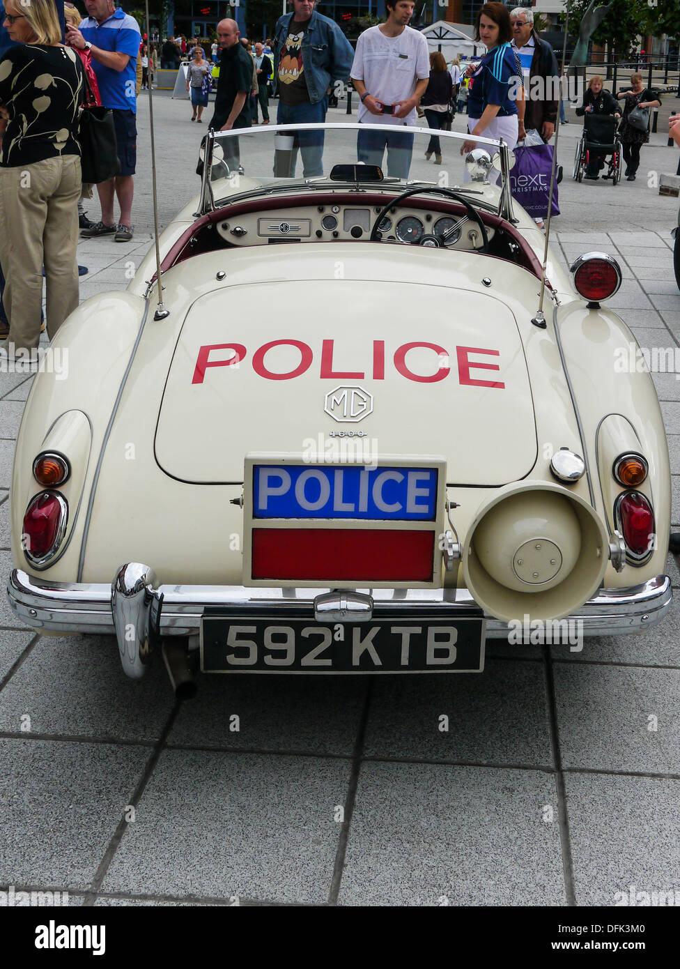 Hinteren Teil einer Lancashire County Constabulary MGA 1600 Stockbild