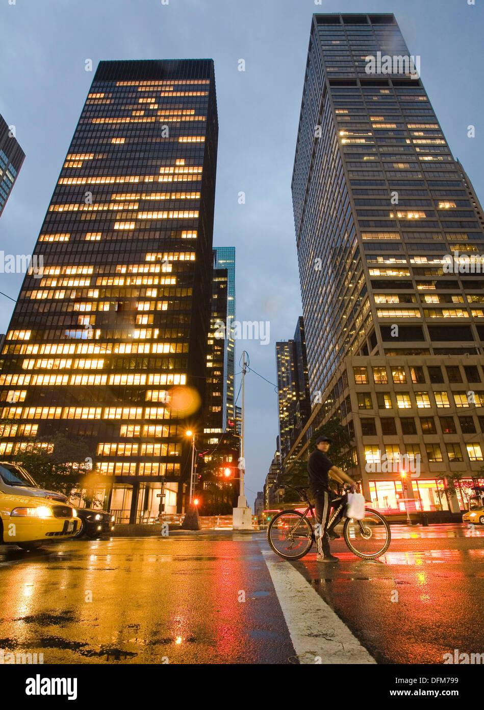 52nd Street Am Linken Seagram Building Von Ludwig Mies Van Der Rohe
