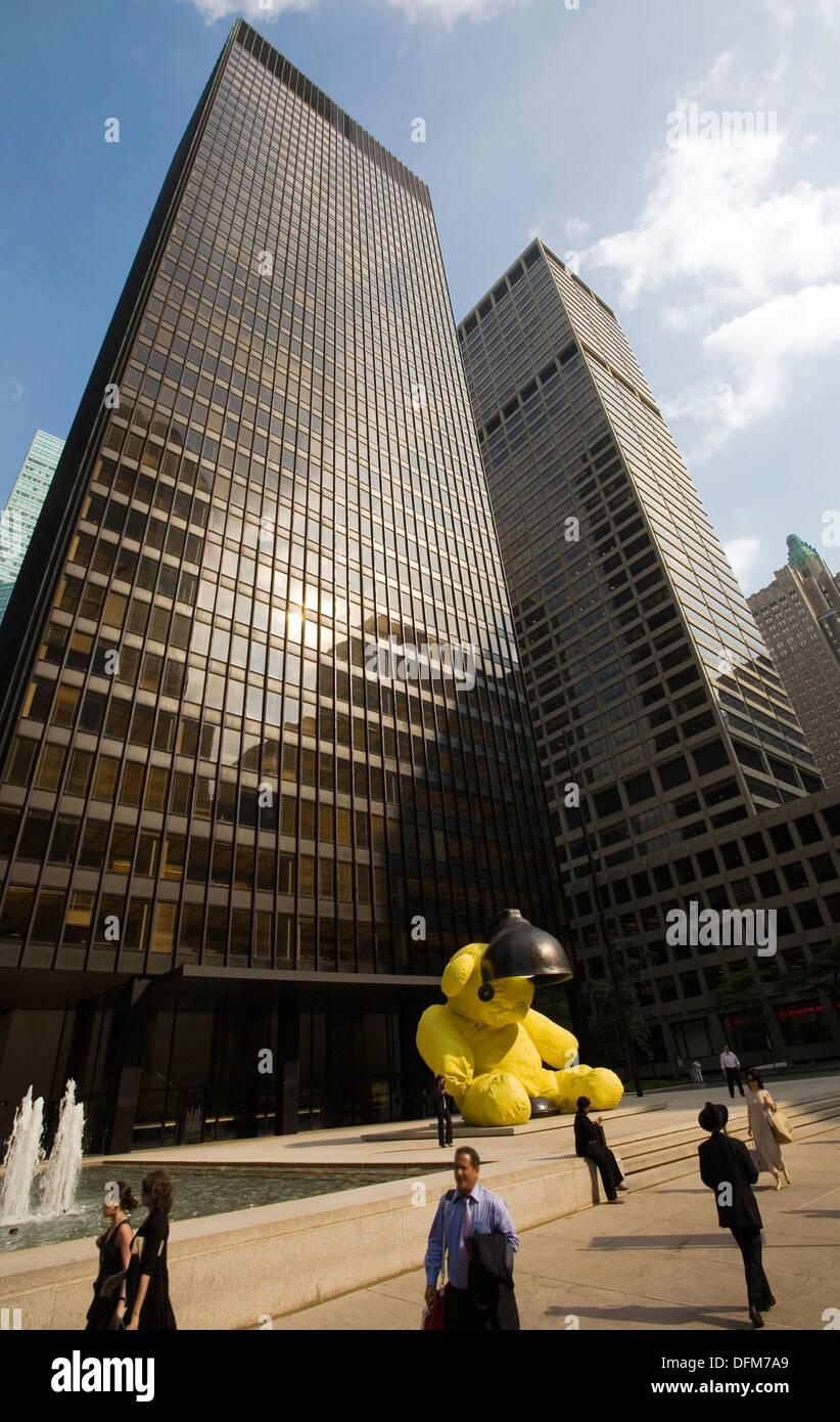 Seagram Building Von Ludwig Mies Van Der Rohe Park Avenue Midtown