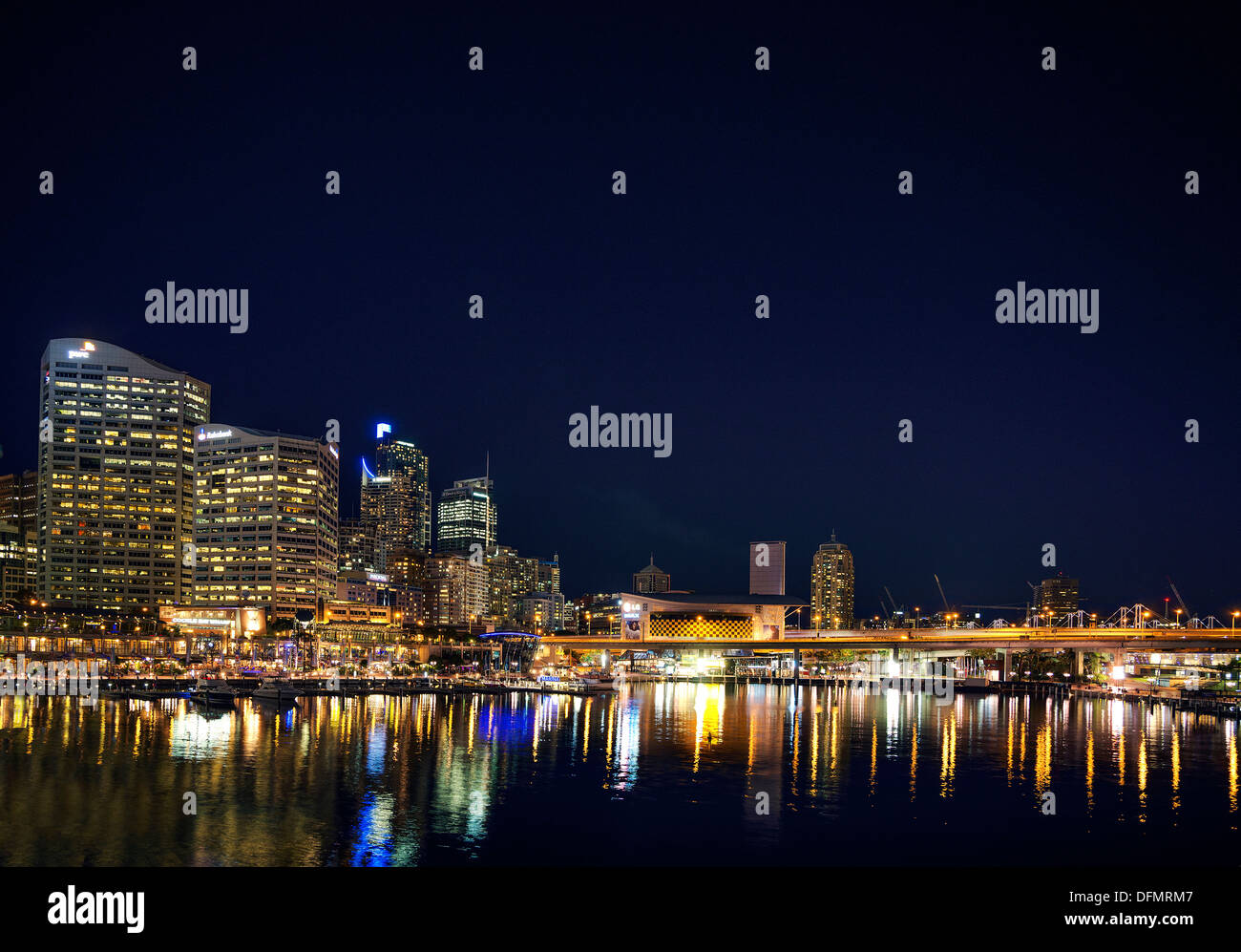 Entertainment-Bereich den Darling Harbour in Sydney, Australien Stockbild