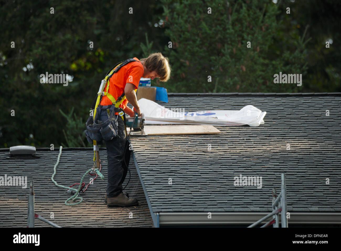 Dachdecker Kanada roofer stockfotos roofer bilder alamy