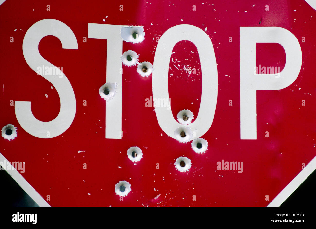 Abbildung: Stop Waffengewalt Stockbild