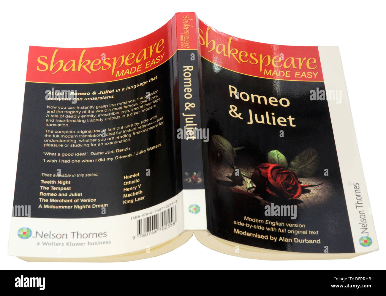 Romeo und Julia von William Shakespeare Stockbild