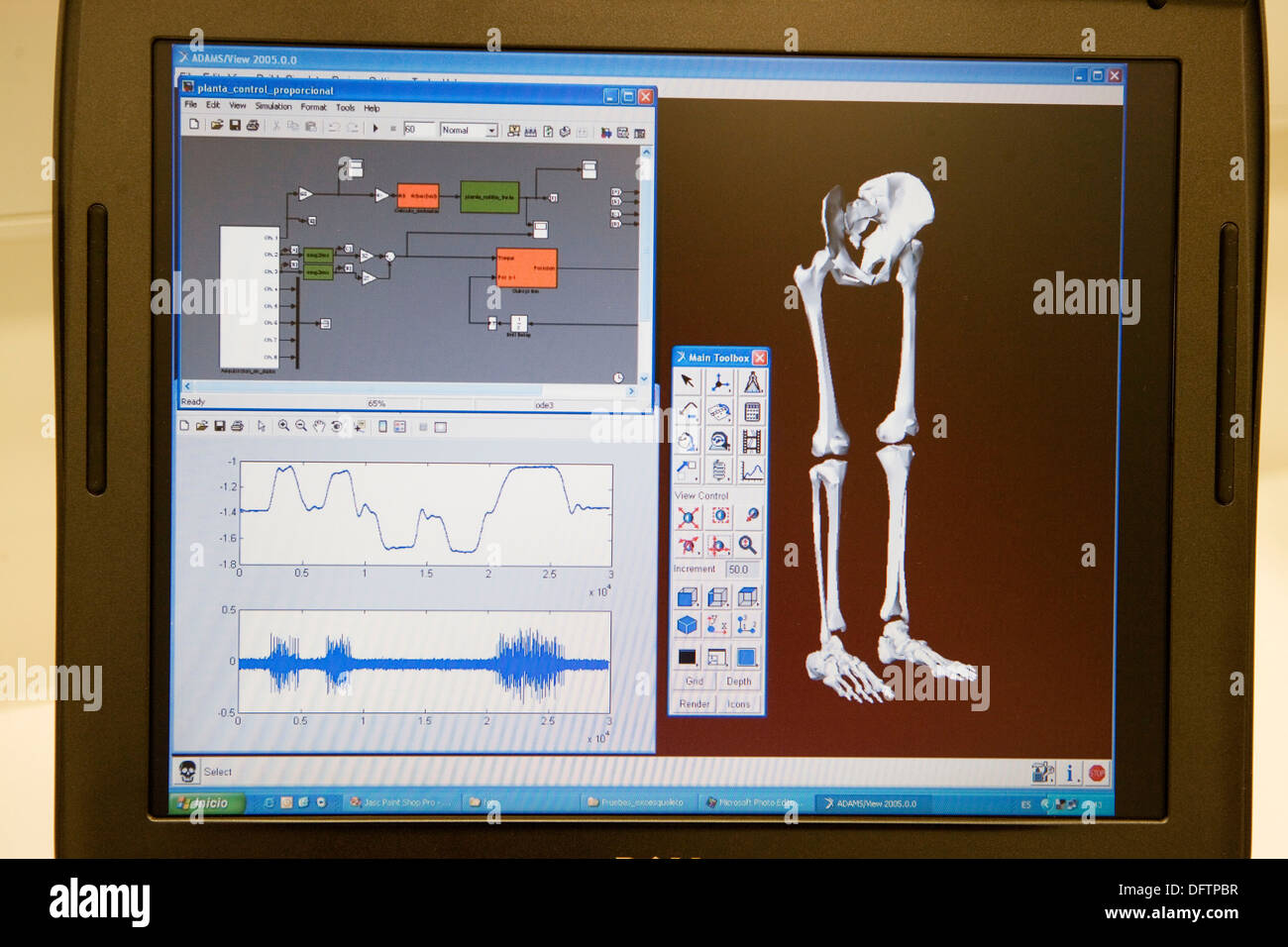 Biomechanik: Forscher Entwickeln Exoskelett Für Menschen Mit Muskelschwäche  In Den Unteren Extremitäten Stockbild