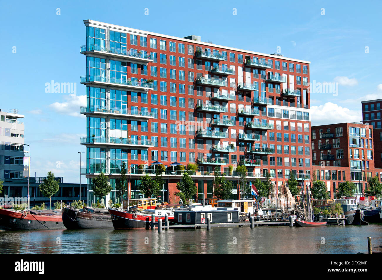 Westerdock Amsterdam Niederlande moderner Architektur Stockbild