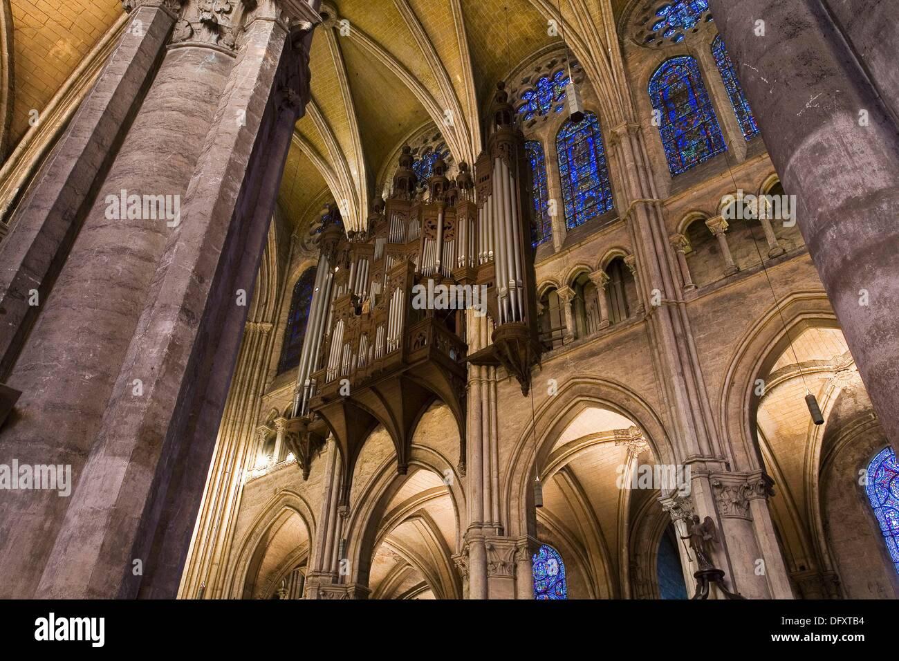 Frankreich, Chartres, Cathédrâle: Intérieur Stockbild