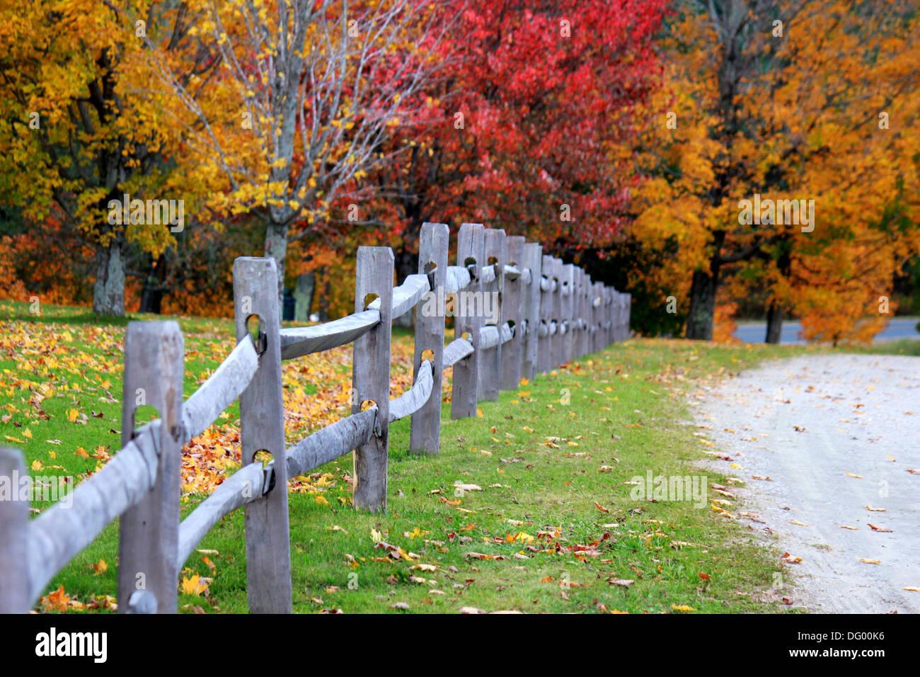 Schön gemacht schöne Zäune entlang der Land Seite von uns durch