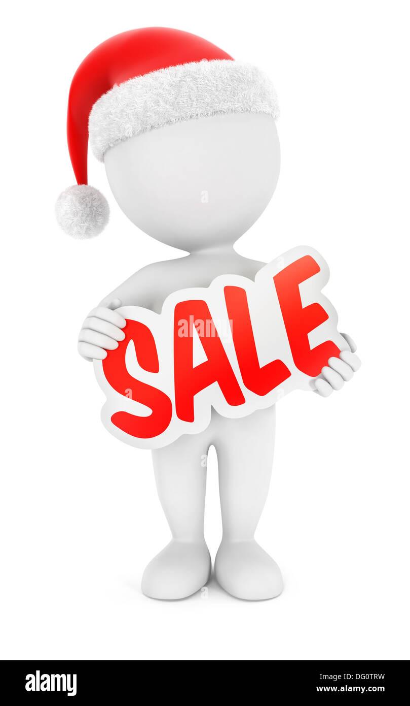 3D White Menschen Weihnachtsverkauf, isolierten weißen Hintergrund ...