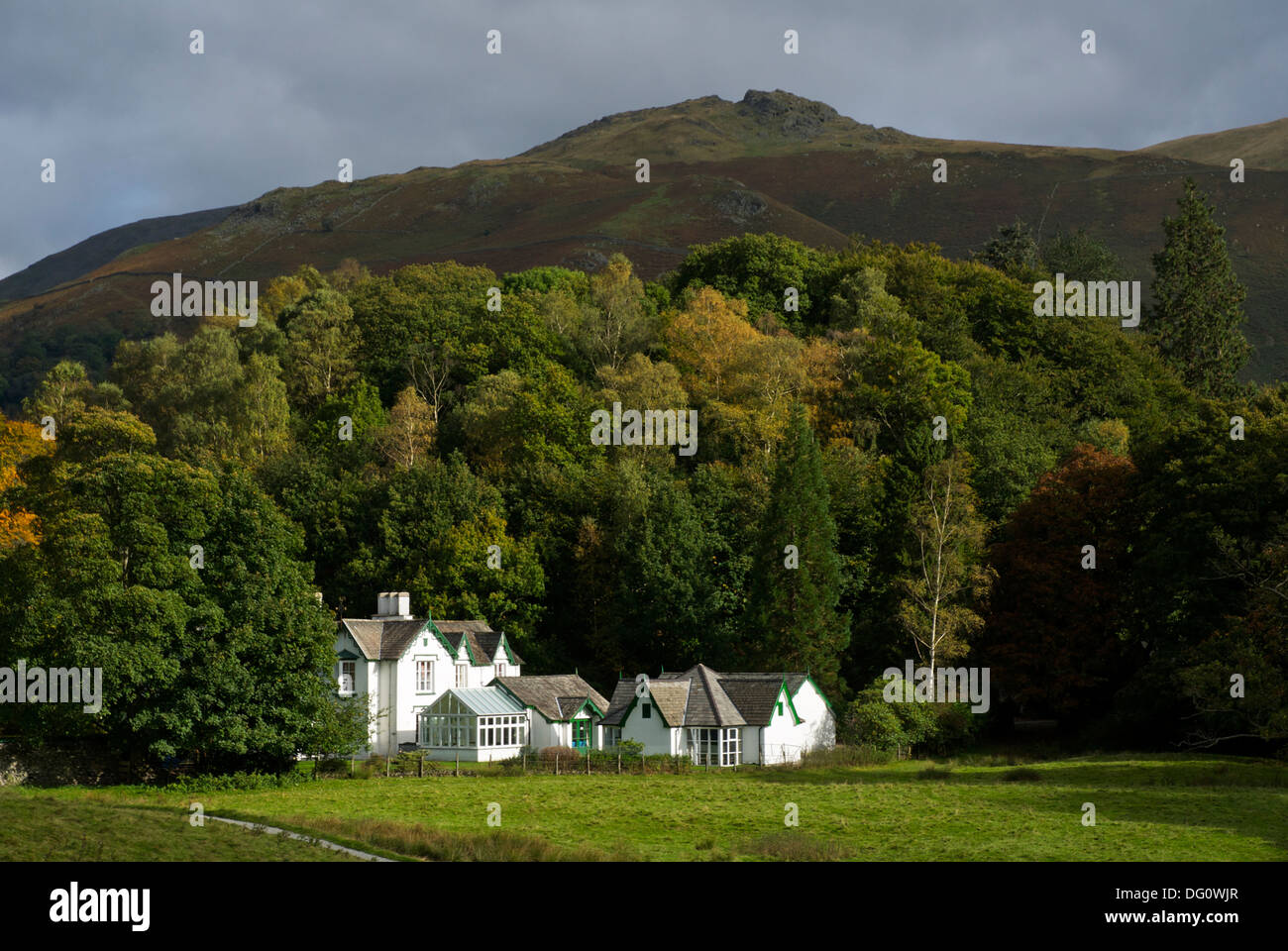Glenthorne Quaker Gästehaus, Easedale Road, Grasmere, Nationalpark Lake District, Cumbria, England UK Stockbild