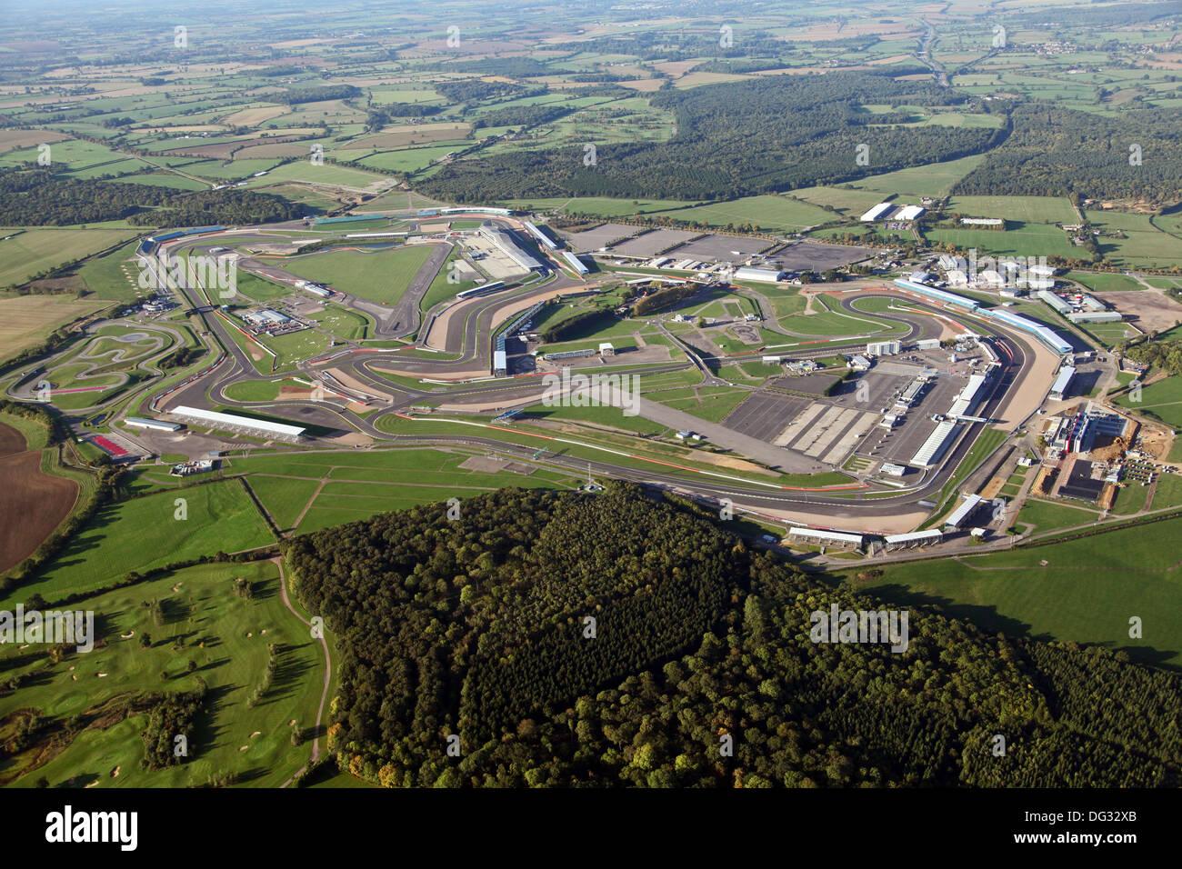 Luftaufnahme von Silverstone Rennen verfolgen Schaltung in Northamptonshire Stockbild