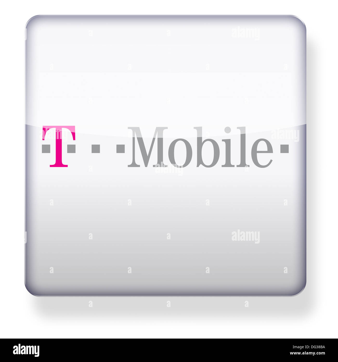 T Mobile Logo Als Ein App Symbol Clipping Pfad Enthalten Stockfoto