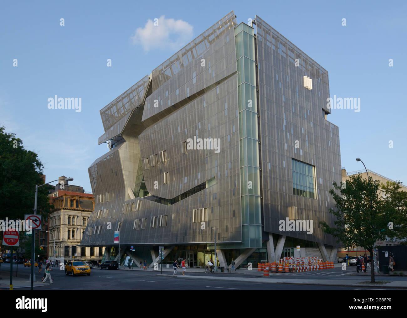 Die Cooper Union zur Förderung von Wissenschaft und Kunst, 41 Cooper Square LEED Platin für ökologische Effizienz Stockbild