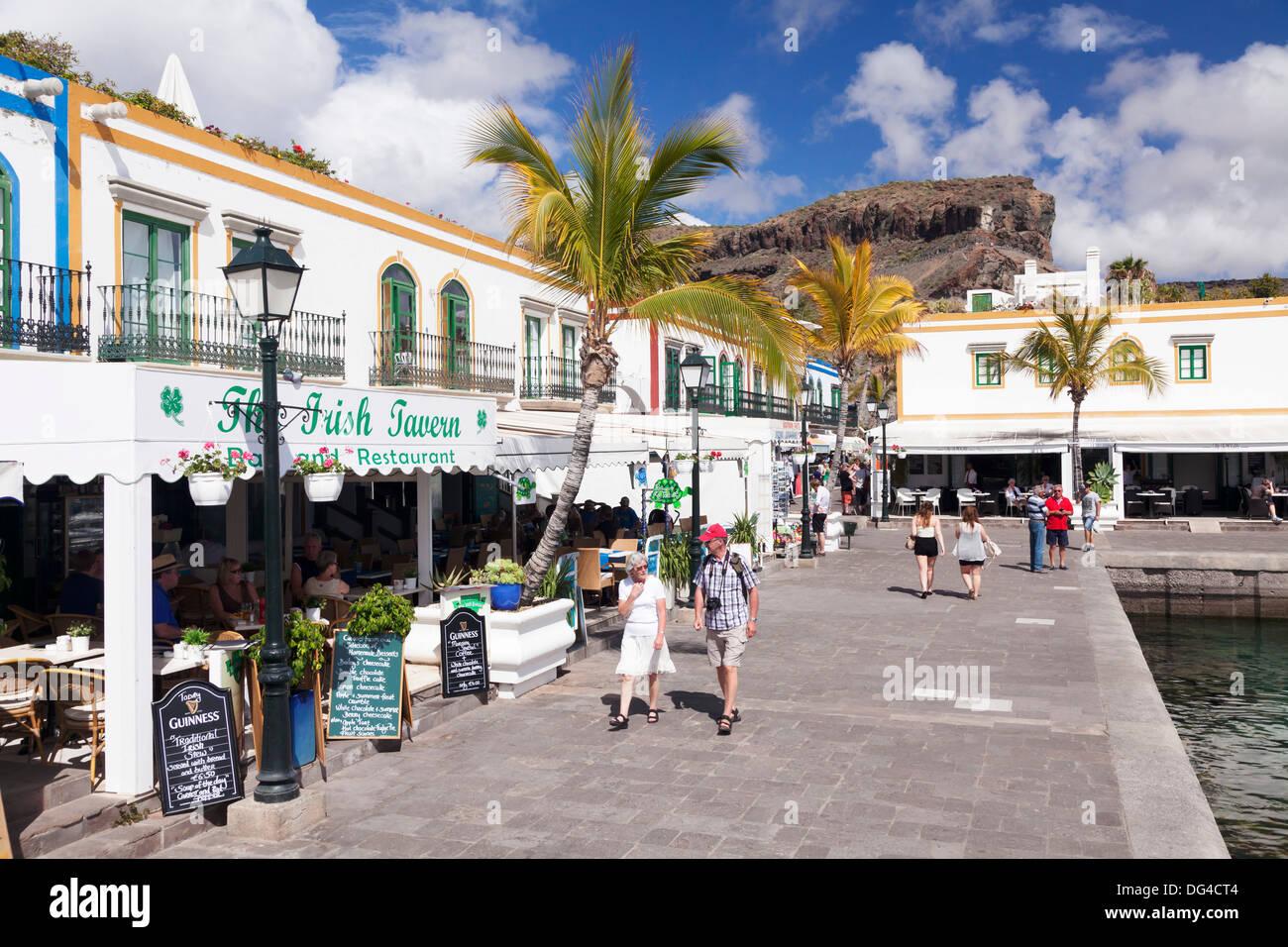 Altstadt, Puerto de Mogan, Gran Canaria, Kanarische Inseln, Spanien, Europa Stockbild