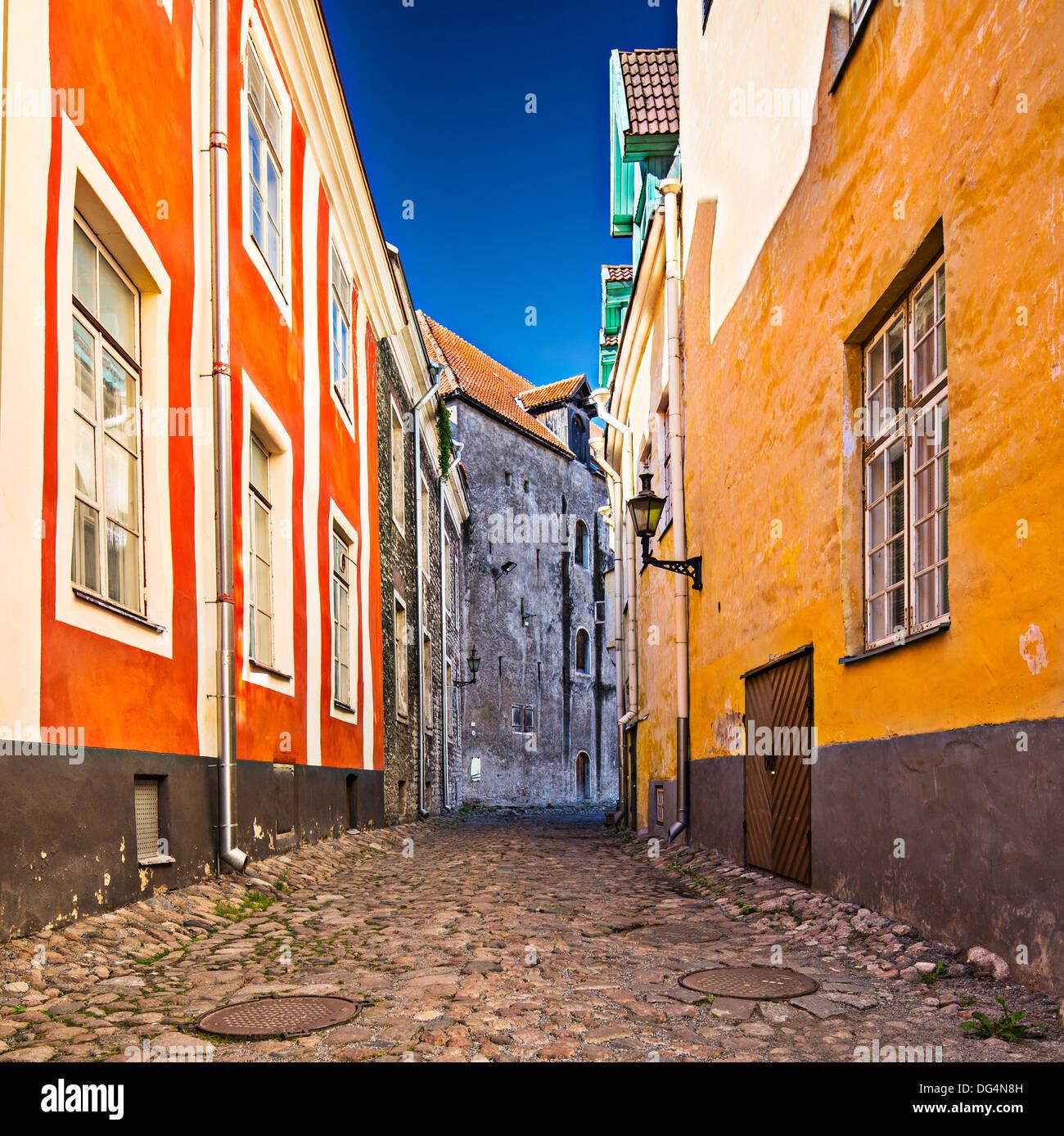 Gasse am Domberg in Tallinn, Estland. Stockbild