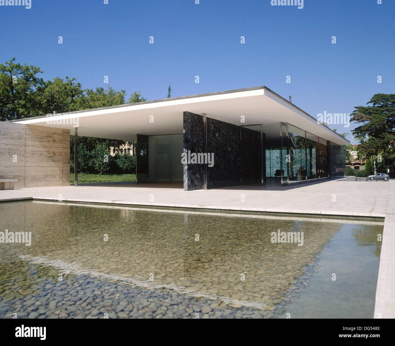 Die fundaci mies van der rohe deutscher pavillon f r die internationale ausstellung von 1929 - Architekt barcelona ...