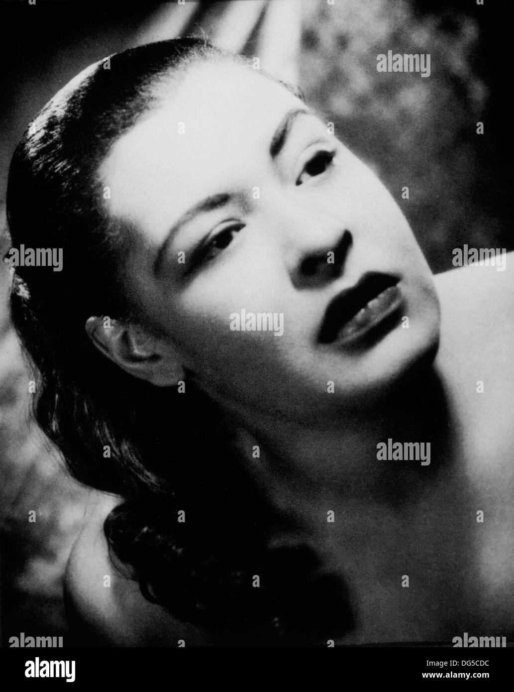 Billie Holiday, Blues und Jazz-Sängerin, Portrait, 1955 Stockbild