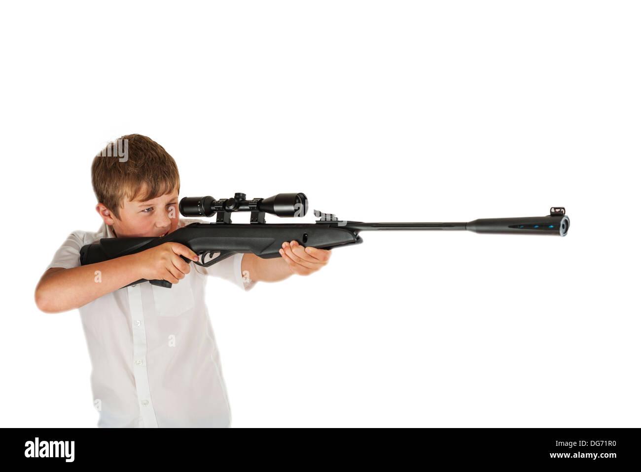 Luftgewehr mit zielfernrohr für die jagd lizenzfreie fotos