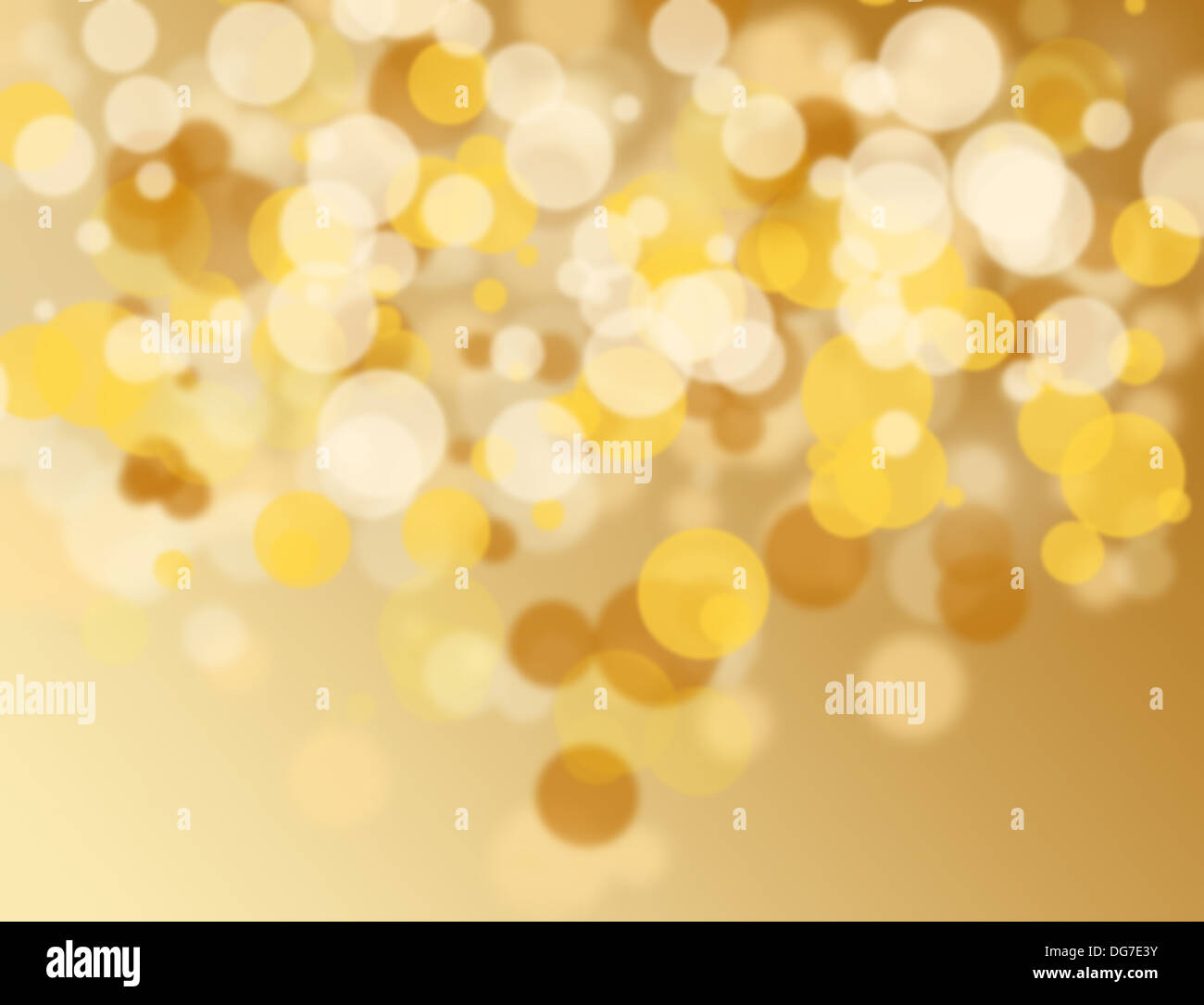 Goldene und weiße Bokeh auf Abstrakt-Hintergrund Stockbild