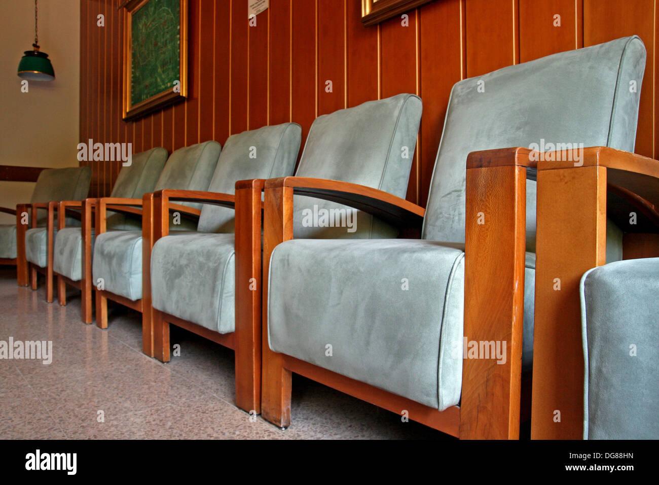 Stühle, Wohnzimmer, Balneari Prats, Caldes de Malavella, Katalonien ...