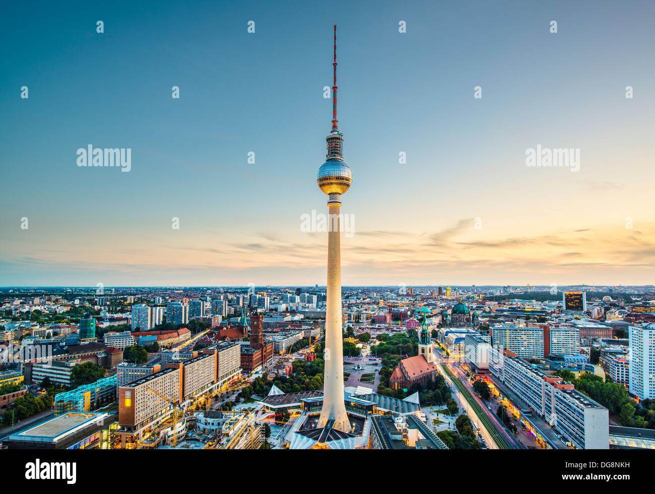Berlin, Deutschland-Blick. Stockbild