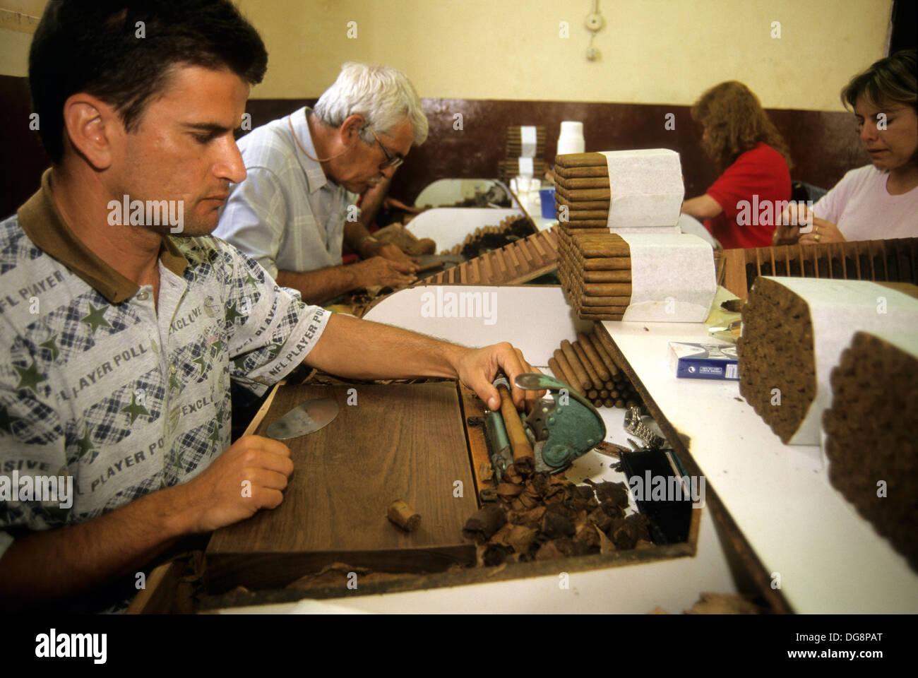Herstellung von Zigarren, La Palma, Kanarische Inseln, spanischen Inselgruppe im Atlantischen Ozean Stockbild