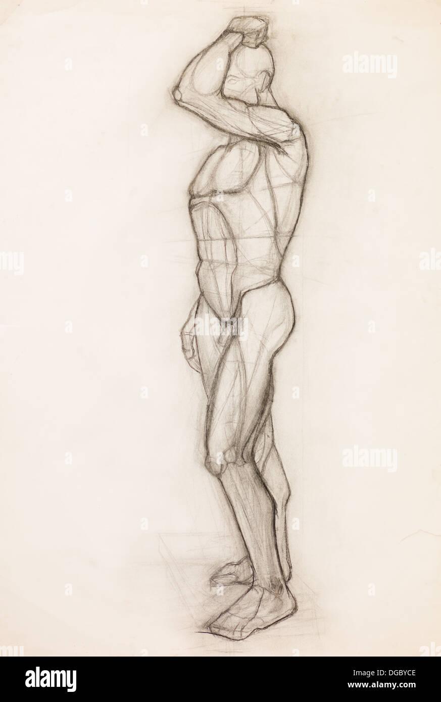 Hand gezeichnet Bleistift-Skizze zur Veranschaulichung menschlichen ...
