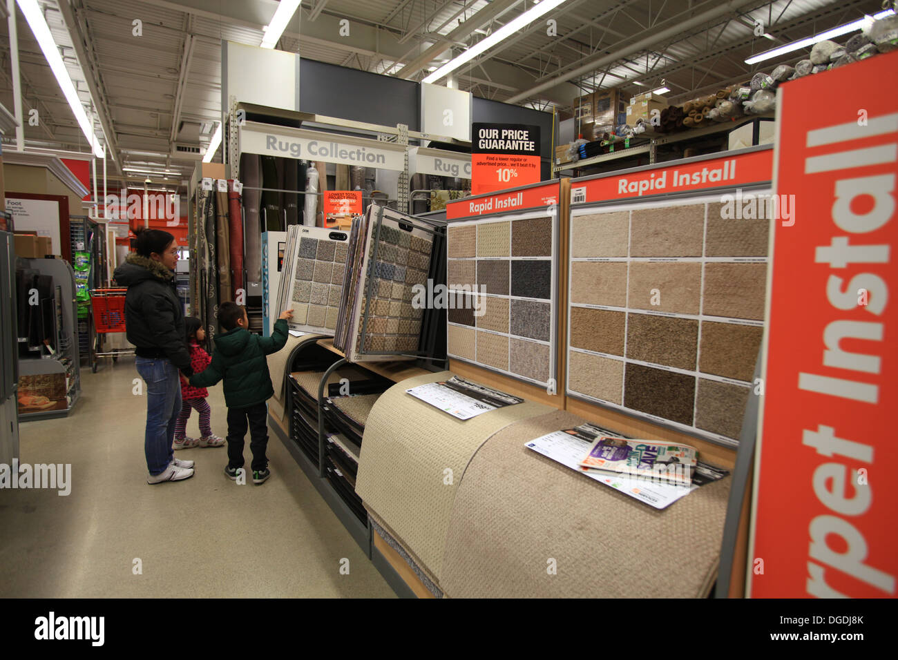 bodenbelag teppich muster auf dem display in the home depot kitchener ontario kanada - Muster Depot