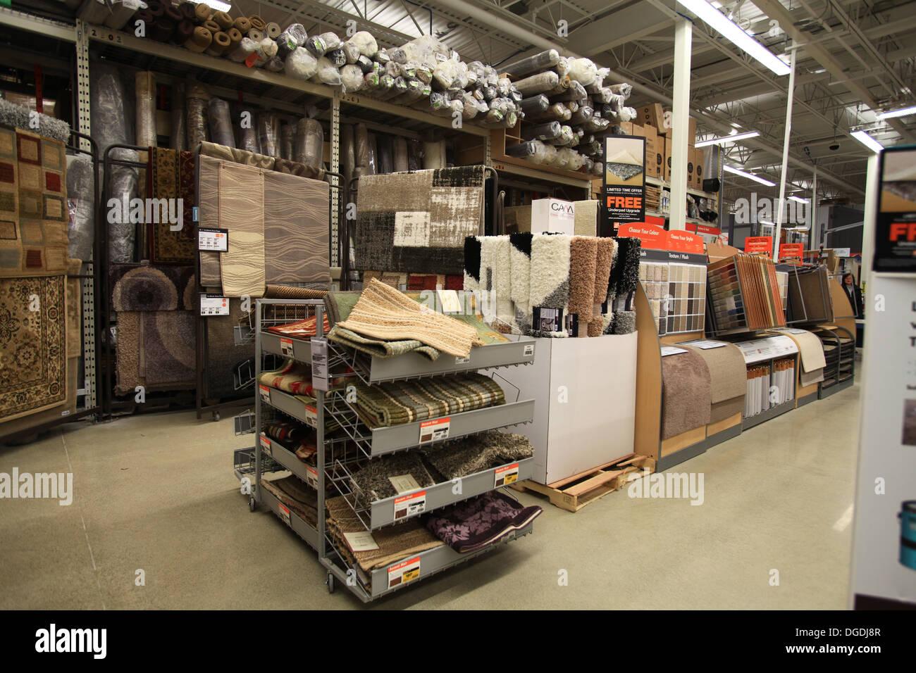 fuboden teppich und teppich muster auf dem display in the home depot kitchener ontario kanada - Muster Depot