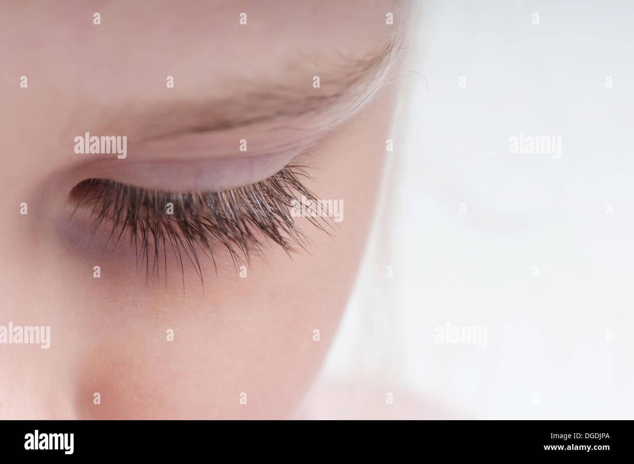 Closeup Aufnahme von Wimpern Stockbild