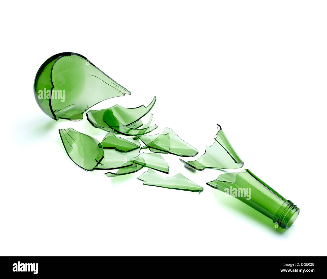 zerbrochenes glas flasche stockfoto bild 61772995 alamy. Black Bedroom Furniture Sets. Home Design Ideas