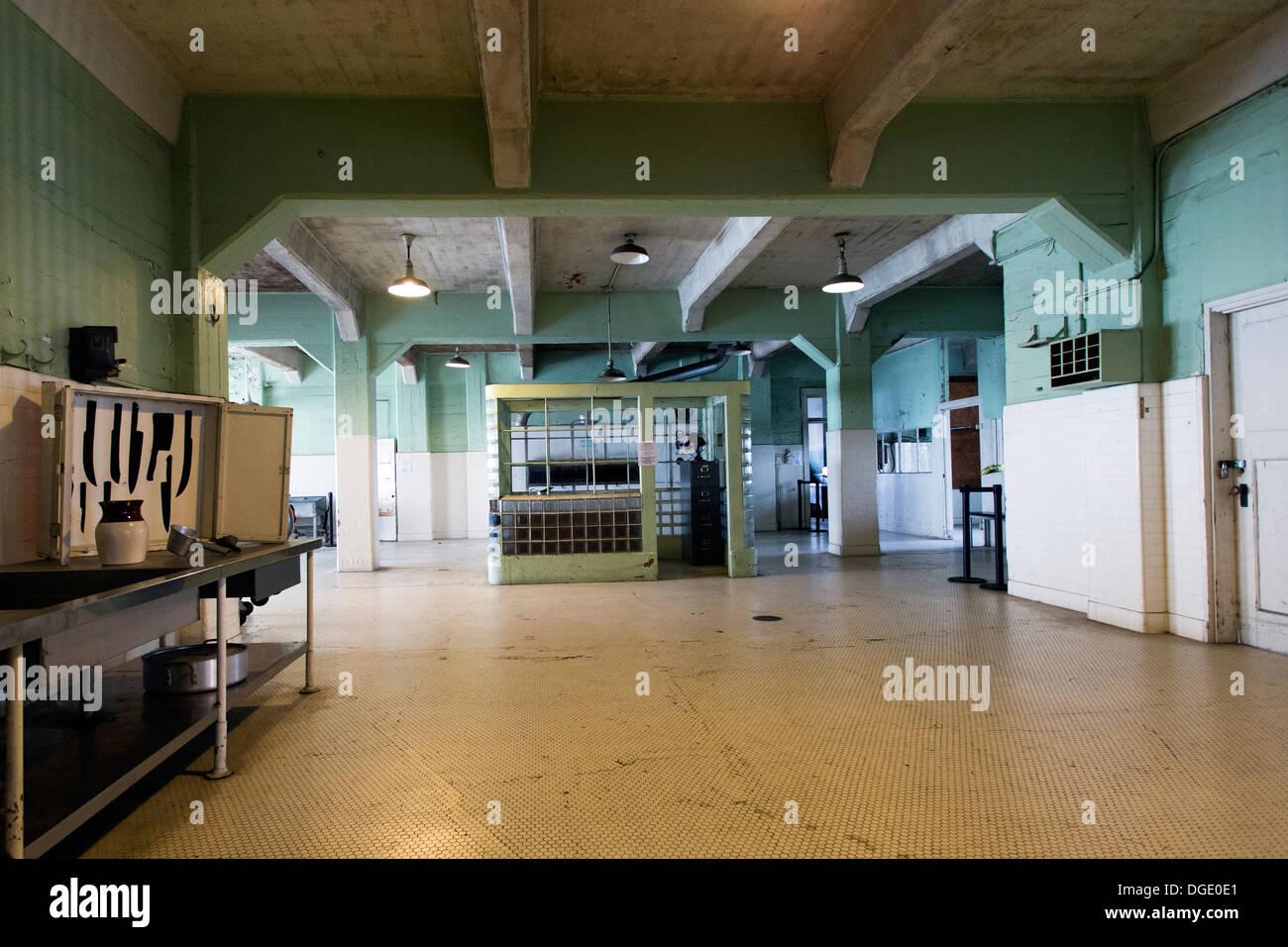 Küche, Gefängnis Alcatraz, San Francisco Bay, Kalifornien, USA ...