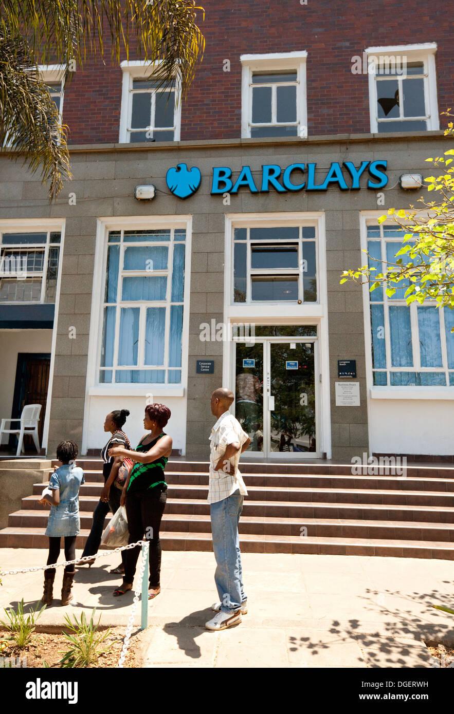Barclays Bank, Livingstone Branch, Livingstone, Sambia, Afrika Stockbild
