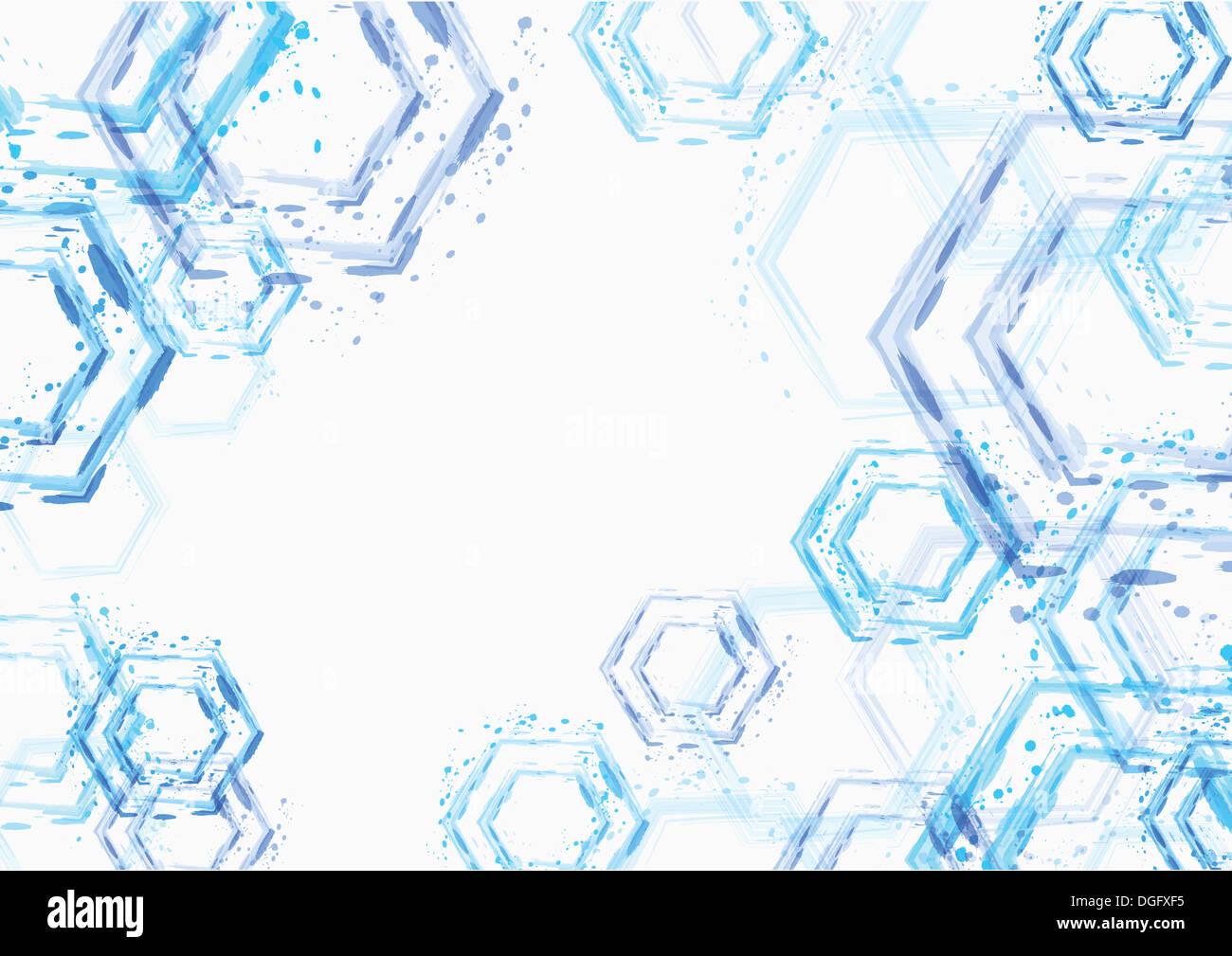 PPT-Hintergrund-Template-Design mit blauen Formen Stockfoto, Bild ...