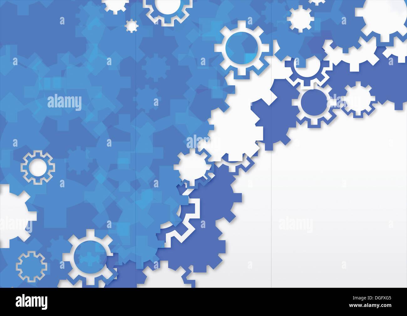 PPT-Hintergrund-Template-Design mit blauen Symbole festlegen ...