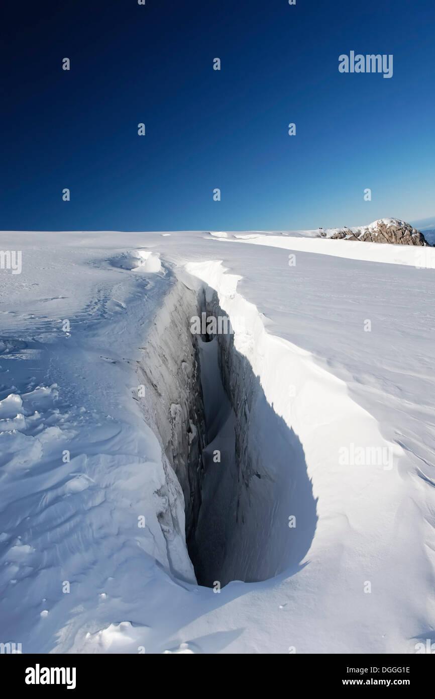 Eis Spalt Am Dachstein Gletscher Ramsau Steiermark Austria