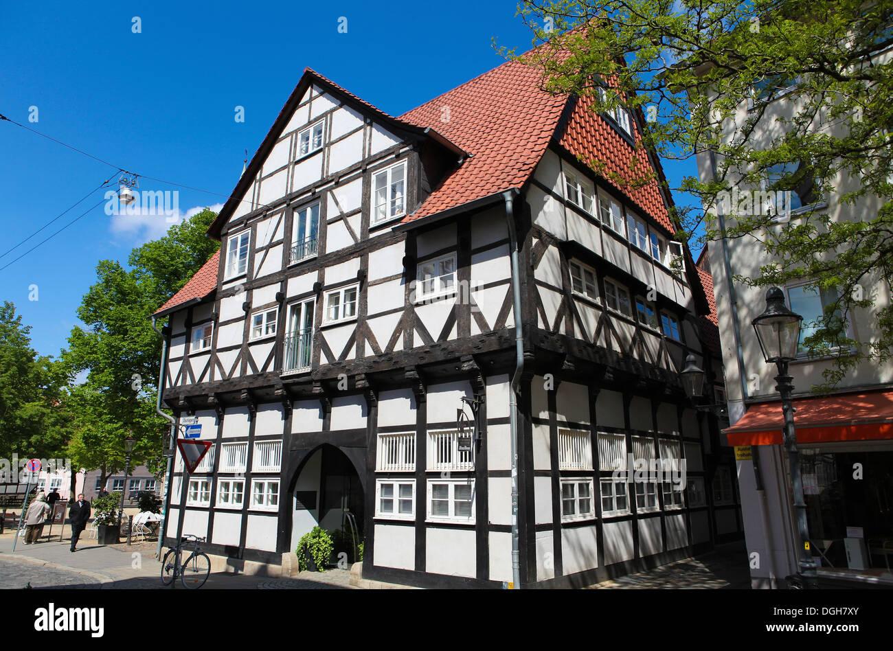 Magniviertel in Braunschweig, Niedersachsen, Deutschland. Stockbild