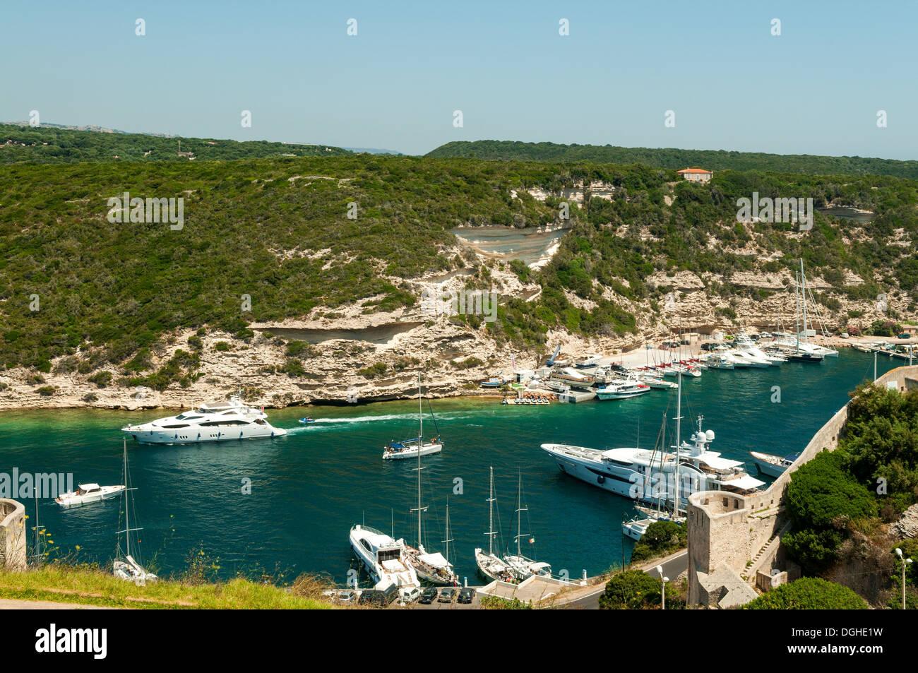 Golfe de Bonifacio, Süd-Korsika, Frankreich Stockbild