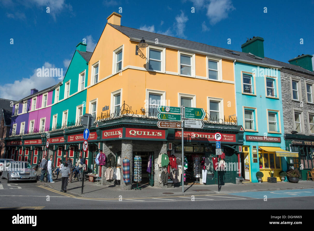 bunte h user in kenmare county cork republik irland europa stockfoto bild 61858561 alamy. Black Bedroom Furniture Sets. Home Design Ideas