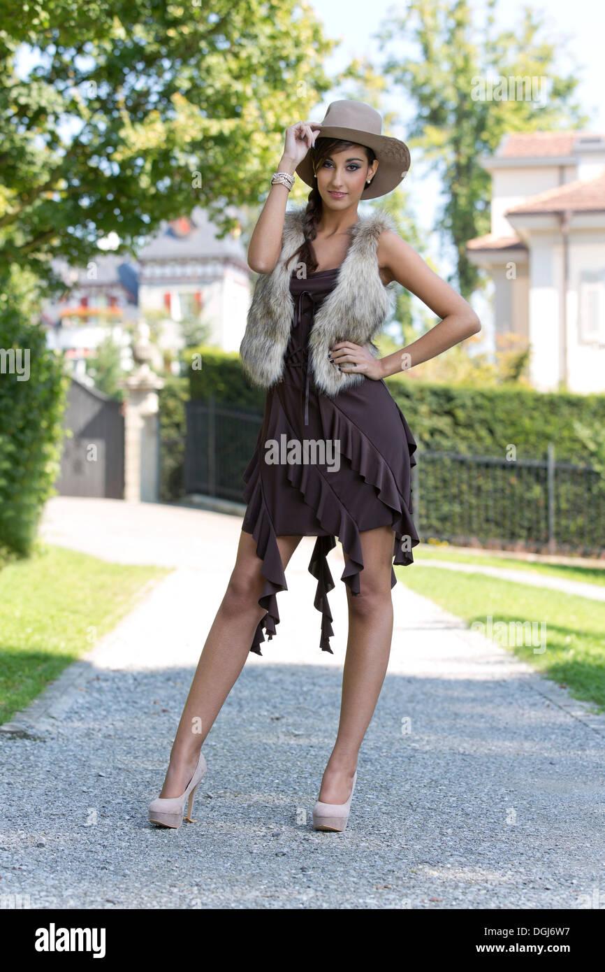 Braunes kleid pretty woman