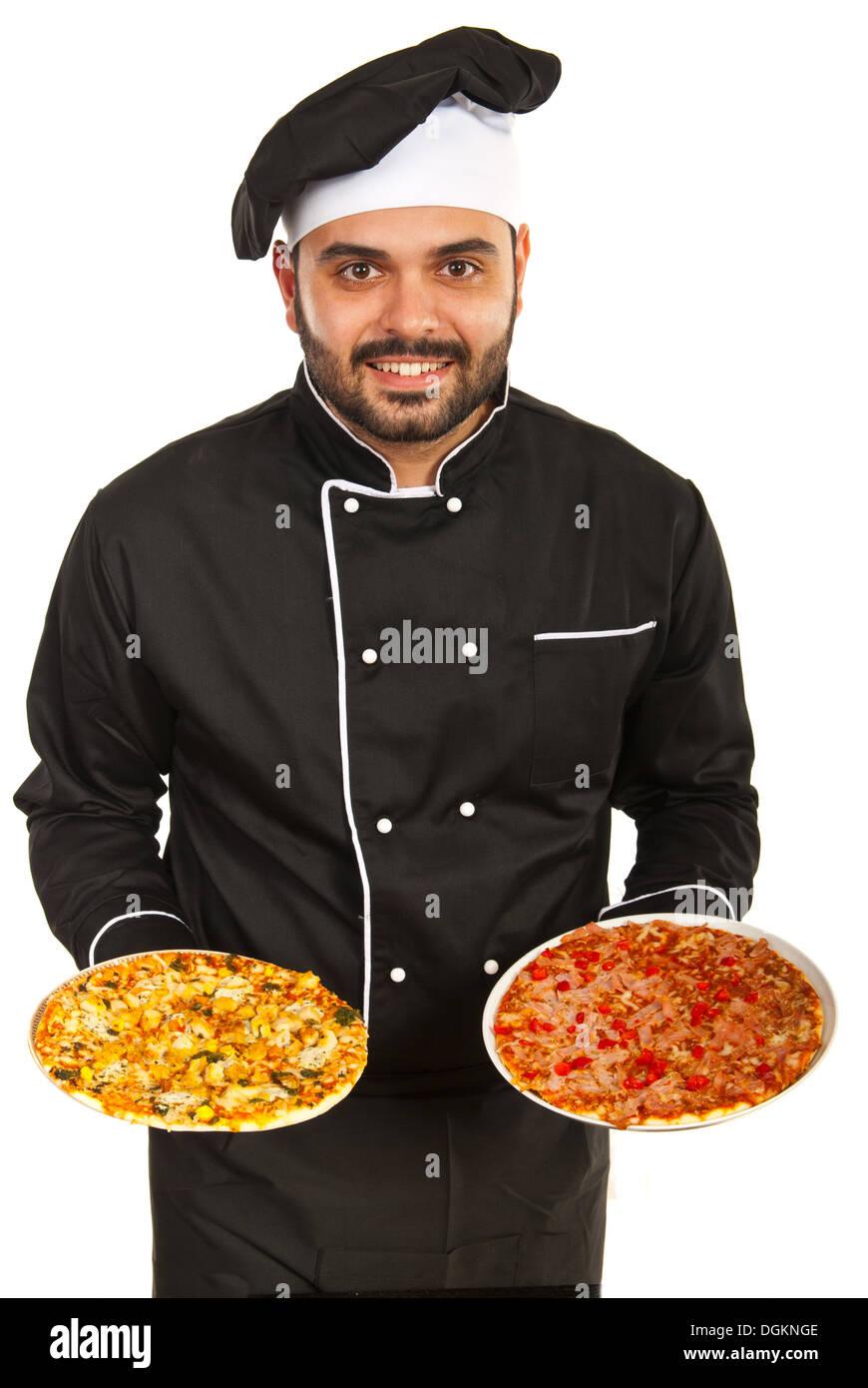 Sehr großer schwarzer Koch