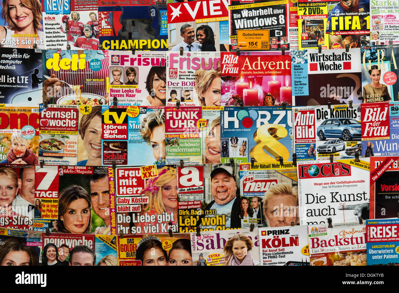 deutsche zeitschriften stockfoto bild 61902271 alamy. Black Bedroom Furniture Sets. Home Design Ideas