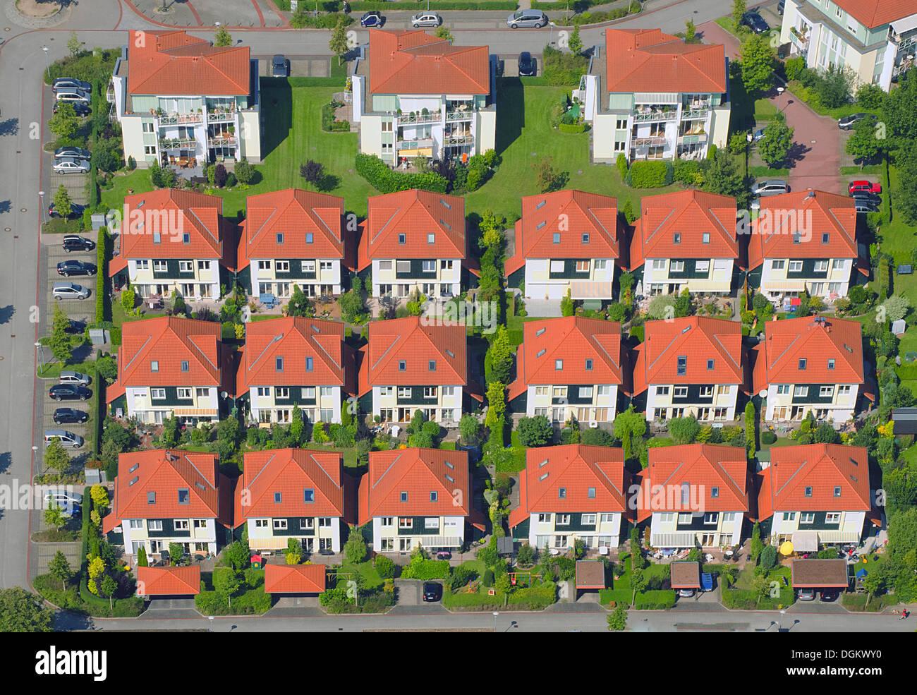 Luftaufnahme Reihenhaus Häuser Wohnsiedlung Wentorf Bei Hamburg