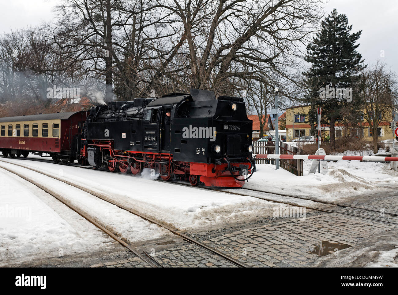 Historical german steam train in stockfotos