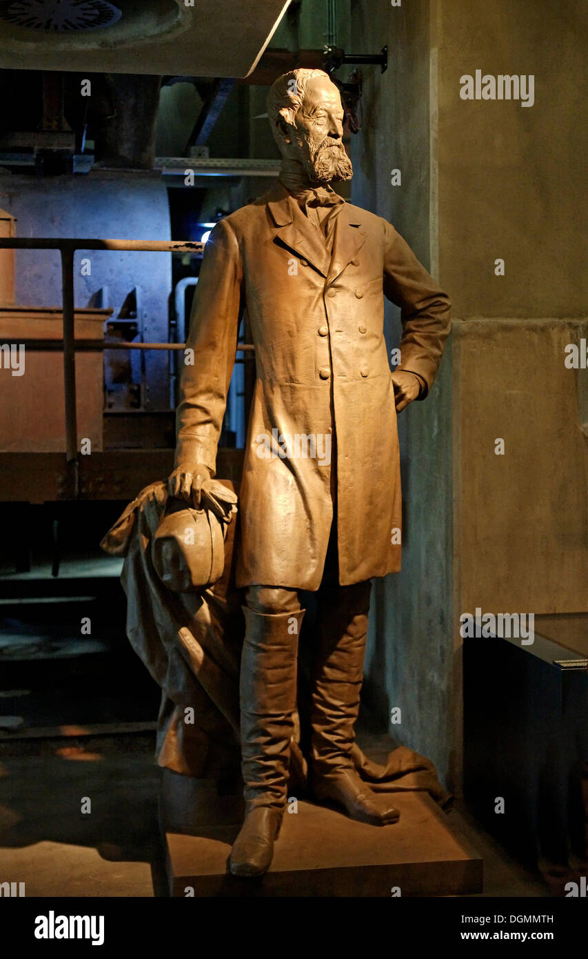 Statue von Alfred Krupp, neue Ruhr Museum Zollverein Coal Mine Industriekomplex, Essen, Nordrhein-Westfalen Stockbild