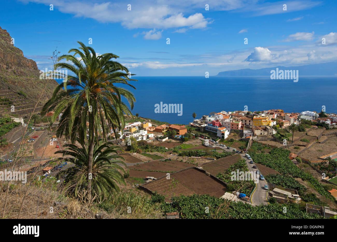 Stadtbild, Agulo, La Gomera, Kanarische Inseln, Spanien Stockbild