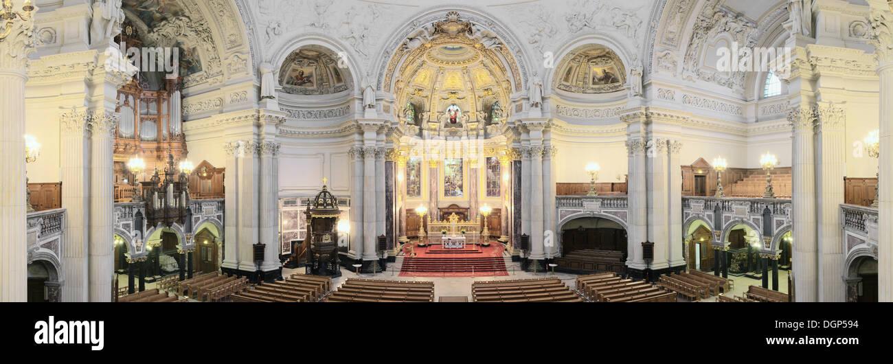 Innenansicht Der Berliner Dom Oder Der Berliner Dom Mit Altar