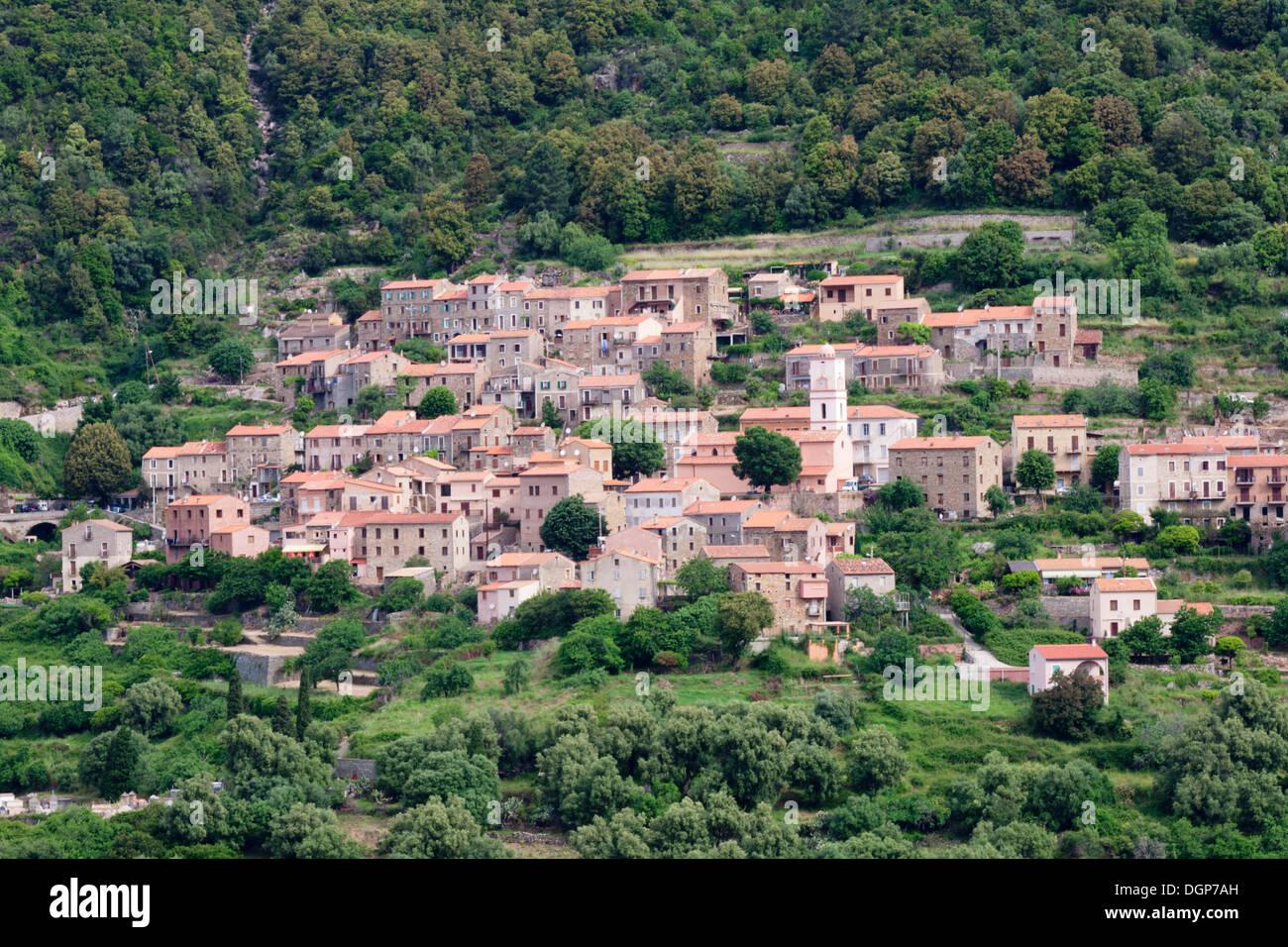 OTA, Gorges de Spelunca, Korsika, Frankreich, Europa Stockfoto