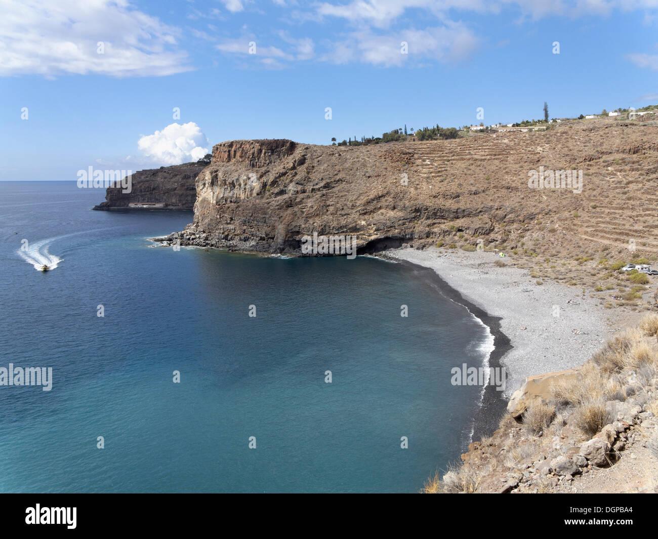 Playa del Medio in der Nähe von Playa de Santiago, La Gomera, Kanarische Inseln, Spanien, Europa Stockbild